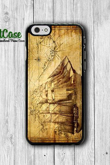 iPhone 6 Case - Old Vintage Barque Ship World MAP iPhone 6 Plus, iPhone 5S Case, iPhone 5 Case, iPhone 5C Case, iPhone 4S Accessories Gift#1-49