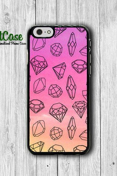 Diamond Girl Pink Pastel Tribal Cell Phone Case iPhone 6 Cover, iPhone 6 Plus, iPhone 5S, iPhone 4S Hard Case, Rubber Deco Accessories Gift#1-65