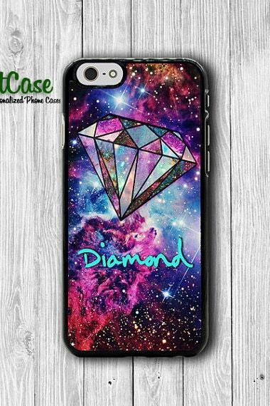 Mint Diamond Nebula Space Hipster Galaxy iPhone 6 Cover, Star iPhone 6 Plus, iPhone 5S, iPhone 4S Hard Case, Rubber Deco Accessories Gift#1-78